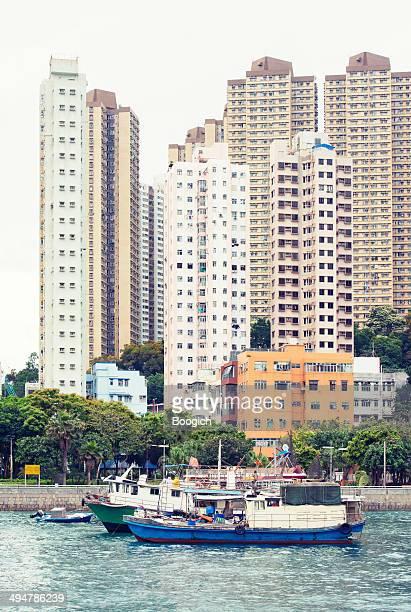 Ships in Aberdeen Harbour Hong Kong