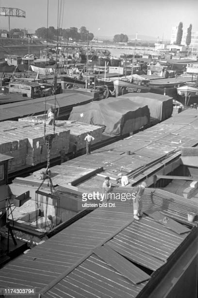 Ships in Rhine ports of Basle 1944