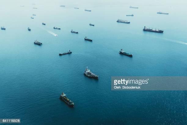 Schiffe auf das Meer