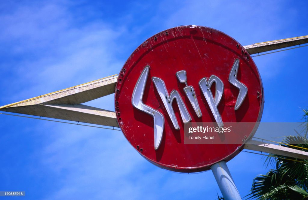 Ships Restaurant Sign In Midcity Los Angeles Stock Photo Getty Images