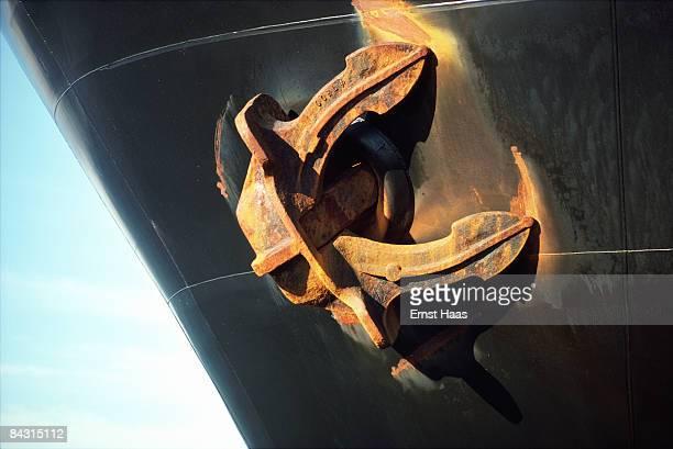 A ship's rusty anchor USA November 1977