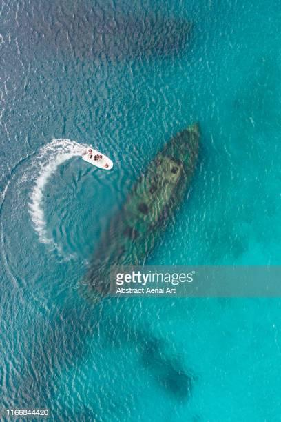 shipwreck, carlisle bay, barbados - shipwreck stock pictures, royalty-free photos & images