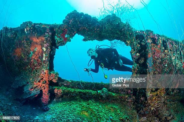Shipwreck dive - Palau, Micronesia