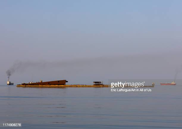 Shipwreck in the sea, Northern Red Sea, Massawa, Eritrea on August 15, 2019 in Massawa, Eritrea.