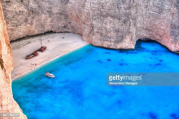 Shipwreck on Navagio beach, Zakynthos, Greece