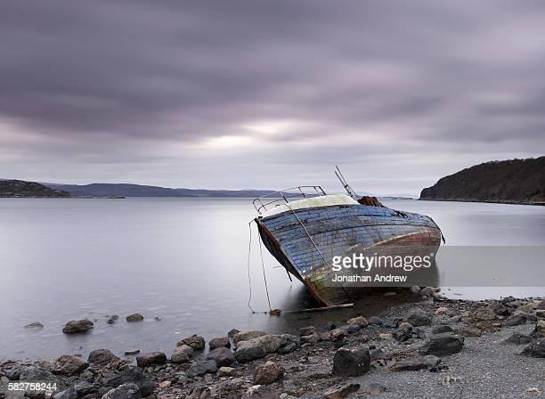 Shipwreck on the Coast of Loch Diabaig