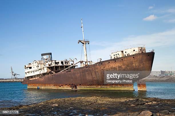 Shipwreck or Temple Hall or Telemon ship Arrecife Lanzarote Canary Islands Spain