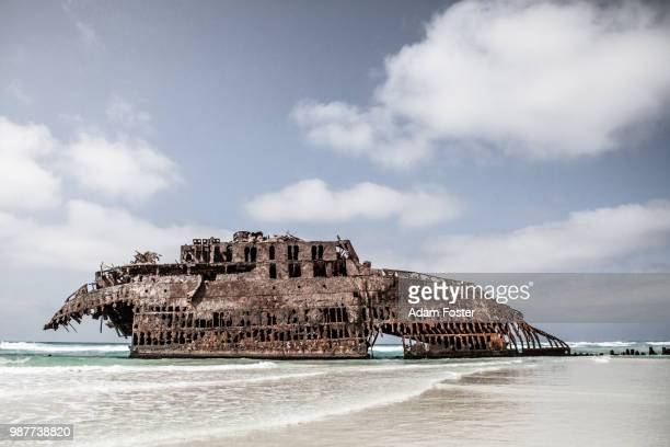 shipwrecked - cape verde stock pictures, royalty-free photos & images