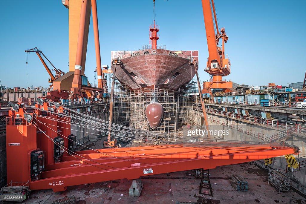 Shipyard : Foto de stock