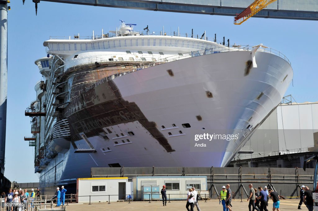 STX shipyards in Saint-Nazaire. : News Photo