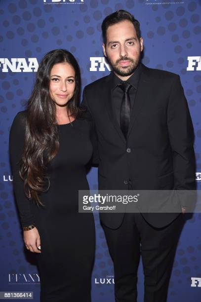 Shir Feig and recipient of the Collaborator of the Year Award Ronnie Fieg attend the 31st FN Achievement Awards at IAC Headquarters on November 28...