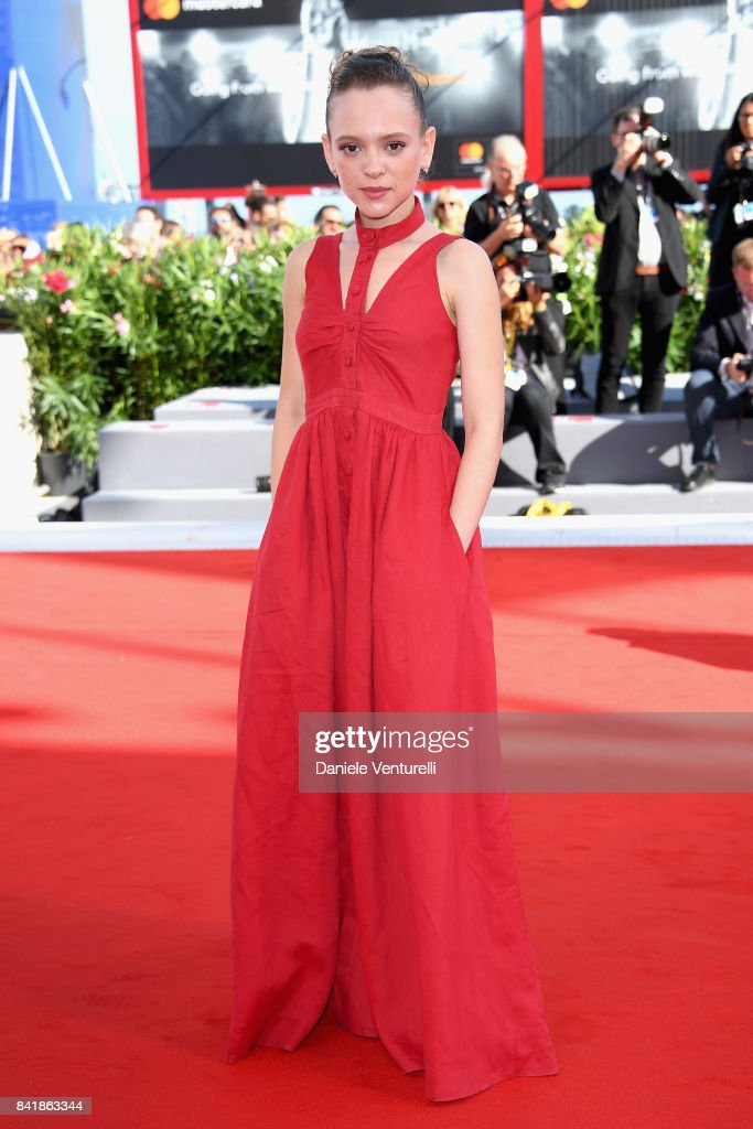 Shira Haas walks the red carpet ahead of the 'Foxtrot' screening during the 74th Venice Film Festival at Sala Grande on September 2, 2017 in Venice, Italy.