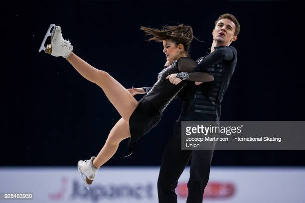 Shira Ichilov and Vadim Davidovich of Israel compete in the Junior Ice Dance Short Dance during the World Junior Figure Skating Championships at...