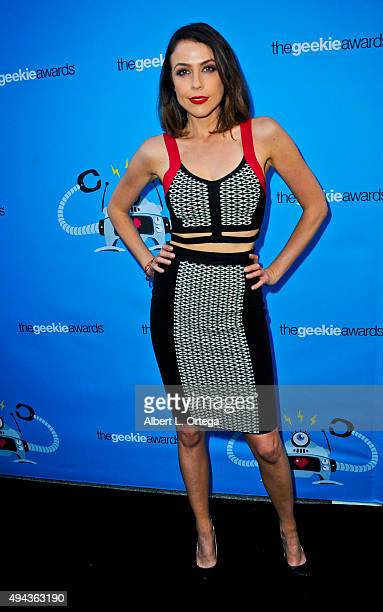 Shira Lazar arrives for the 3rd Annual Geekie Awards held at Club Nokia on October 15 2015 in Los Angeles California