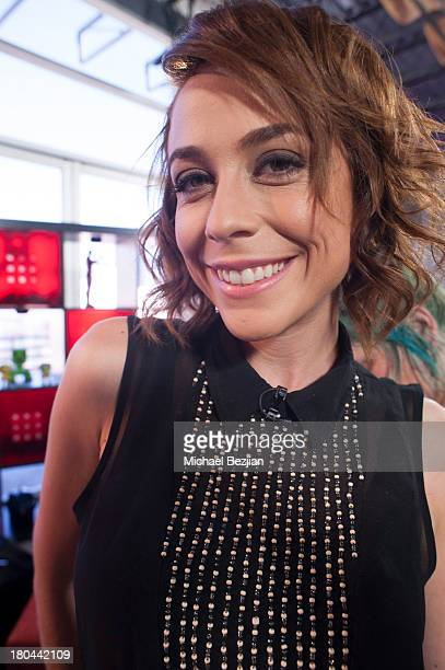 """Shira Lazar attends Sean Kingston and Terry Crews Visits """"What's Trending"""" on September 12, 2013 in Hollywood, California."""