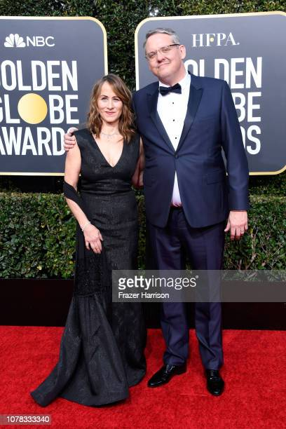 Shira Piven and Adam McKay attend the 76th Annual Golden Globe Awards at The Beverly Hilton Hotel on January 6 2019 in Beverly Hills California