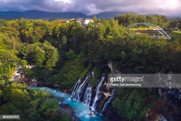 shirahige waterfall - biei town stock pictures, royalty-free photos & images