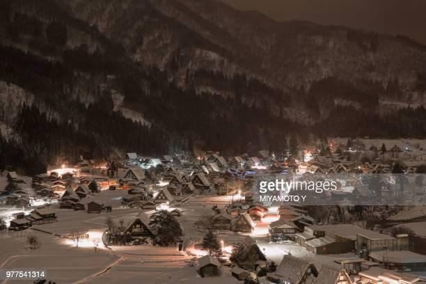 shirakawa-go after snow - miyamoto y ストックフォトと画像