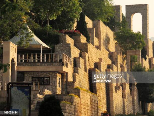 shiraz quran gate public park - iran - vogel stock pictures, royalty-free photos & images