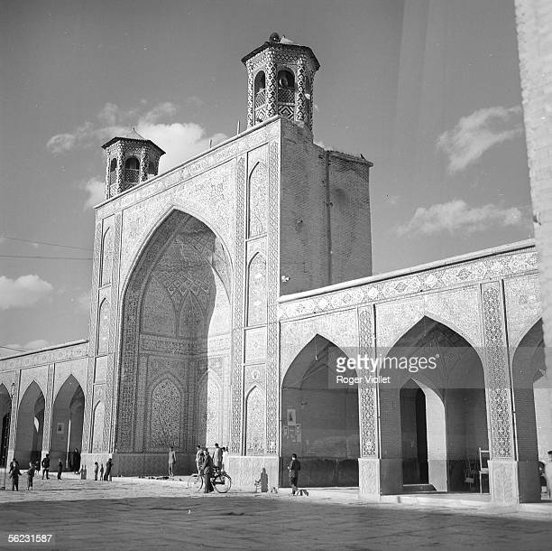 Shiraz The iwan and the yard of the Vakil mosque 1958