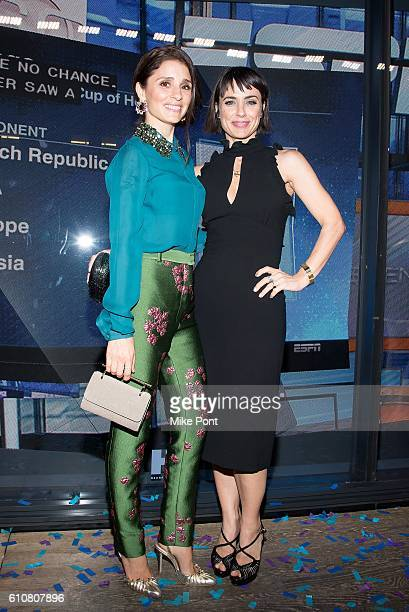 Shiri Appleby and Constance Zimmer attend the HearstLive Launch at Hearst Tower on September 27 2016 in New York City