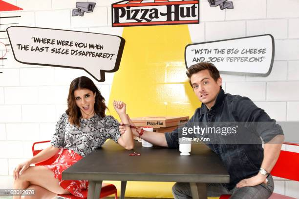 Shiri Appleby and Kevin Zegers of 'What Just Happened with Fred Savage' attend the Pizza Hut Lounge at 2019 ComicCon International San Diego on July...