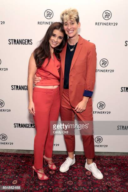 Shiri Appleby and Mia Lidofsky attend the Refinery29 and Beachside Productions Strangers series party at The Metrograph Theater on September 27 2017...