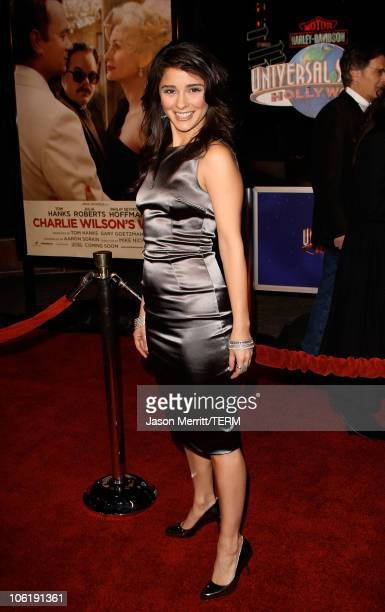 Shiri Appleby arrives to the premiere of Universal Pictures' Charlie Wilson's War at City Walk Cinemas on December 10 2007 in Universal City...