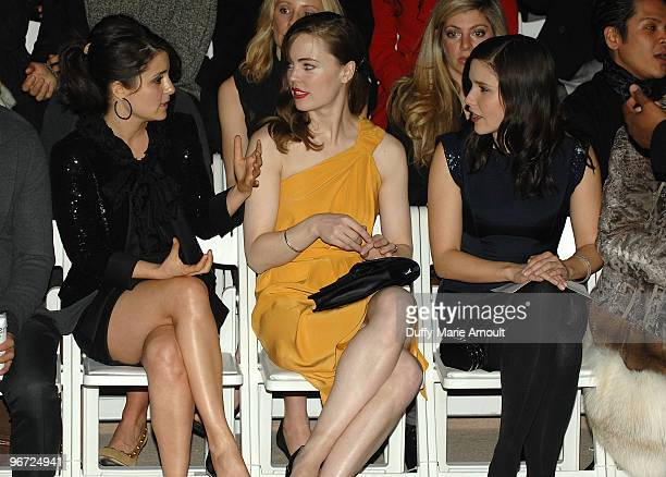 Shiri Appleby Melissa George and Sophia Bush attend Monique Lhuillier Fall 2010 during MercedesBenz Fashion Week at Bryant Park on February 15 2010...