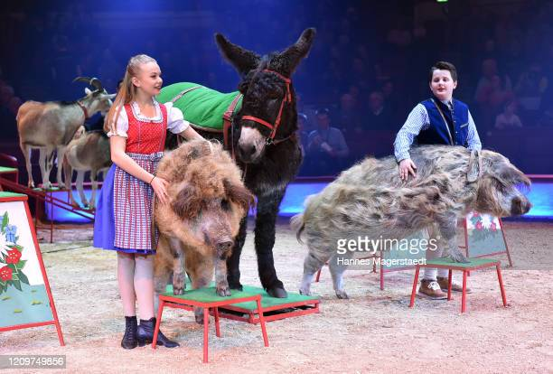 Shirin and Alexis Henry LaceyKrone during the third show premiere of the winter season as part of the 100th anniversary celebrations at Circus Krone...