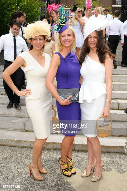 Shirin Christoffersen Katherine Birch and Paige Boller attend the 35th Annual Frederick Law Olmsted Awards Luncheon at the Conservatory Garden in...