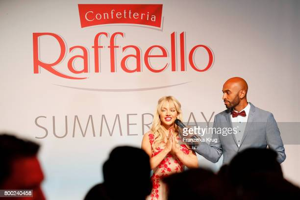 Shirin David and Chris Brow attend the Raffaello Summer Day 2017 to celebrate the 27th anniversary of Raffaello on June 23 2017 in Berlin Germany