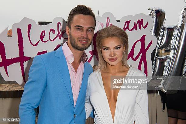 Shirin David and Henri Reichert during the 'LECK MICH AM HASHTAG' Brunch on June 30 2016 in Berlin Germany