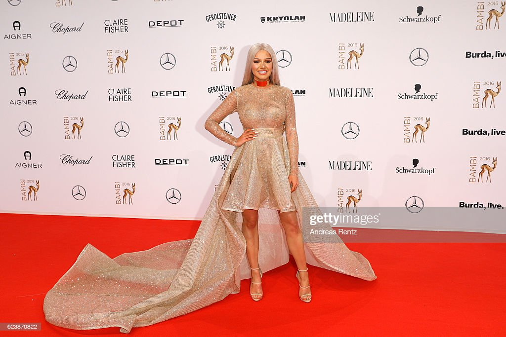 Shirin David arrives at the Bambi Awards 2016 at Stage Theater on November 17, 2016 in Berlin, Germany.