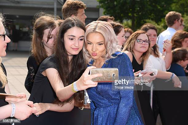 Shirin David attends the Webvideopreis Deutschland 2016 red carpet arrival at Castello on June 4 2016 in Duesseldorf Germany