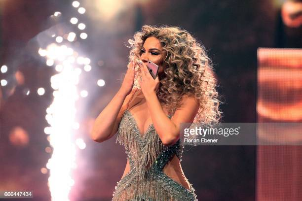 Shirin David during the first event show of the tv competition 'Deutschland sucht den Superstar' at Coloneum on April 8 2017 in Cologne Germany 13...