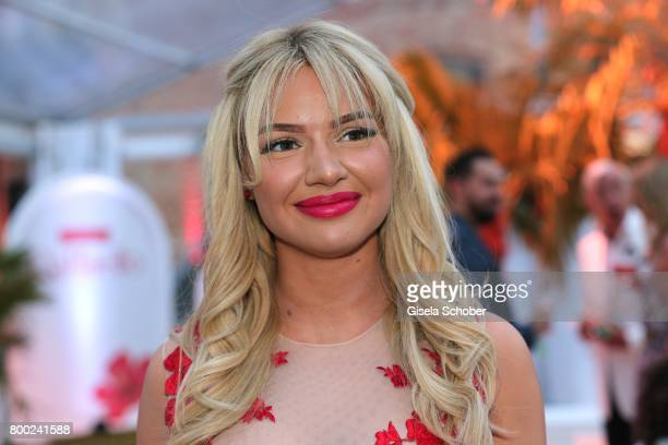 Shirin David during the Raffaello Summer Day 2017 to celebrate the 27th anniversary of Raffaello at 'Koenigliche Porzellan Manufaktur' Berlin on June...