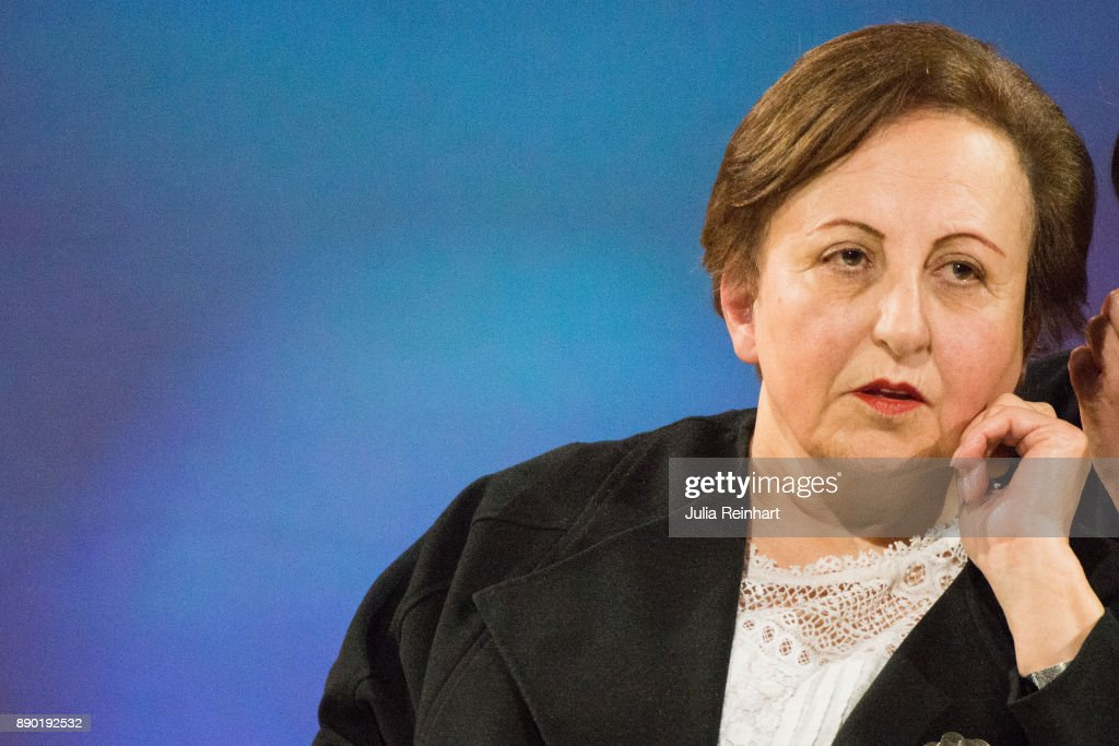 Shirin Ebadi, 2003 Nobel Peace Prize laureate, speaks at 'Nobel Week Dialogue: the Future of Truth' conference at at Svenska Massan on December 9, 2017, in Gothenburg, Sweden.