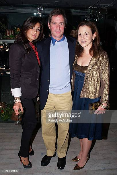 Shirin Kooros Jay Snyder and Bettina Zilkha attend CORA SHEIBANI Preview Party for the COPPER MOULD COLLECTION at Arts Corporation Studio on October...