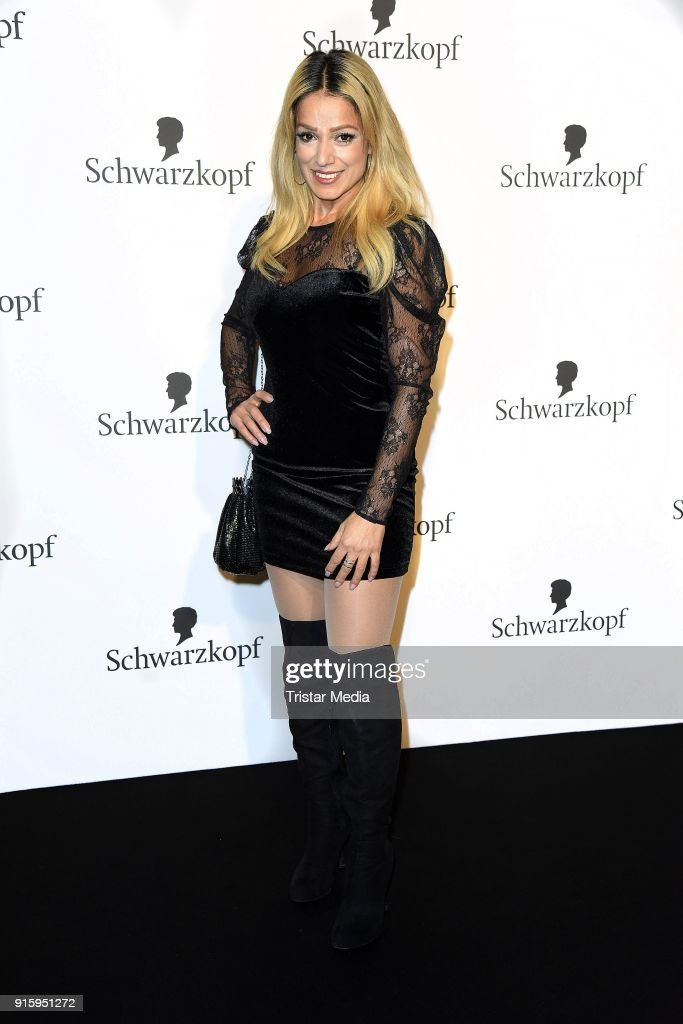 Shirin Tabatabai attends the 120th anniversary celebration of Schwarzkopf at U3 subway tunnel Potsdamer Platz on February 8, 2018 in Berlin, Germany.