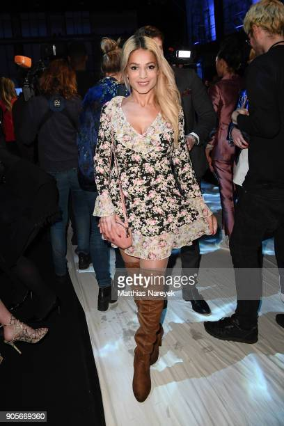 Shirin Tabatabai attends the Riani show during the MBFW Berlin January 2018 at ewerk on January 16 2018 in Berlin Germany
