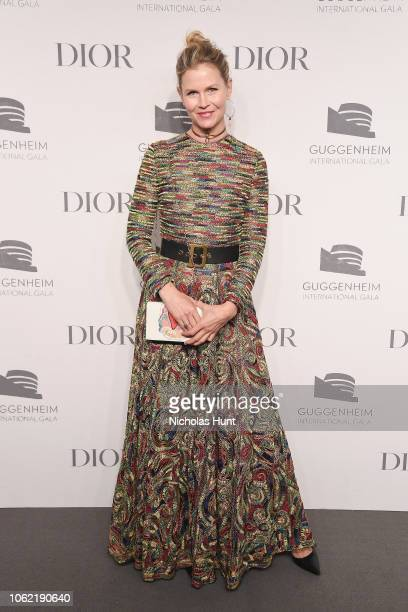 Shirin Von Wulffen attends the Guggenheim International Gala Dinner made possible by Dior at Solomon R Guggenheim Museum on November 15 2018 in New...