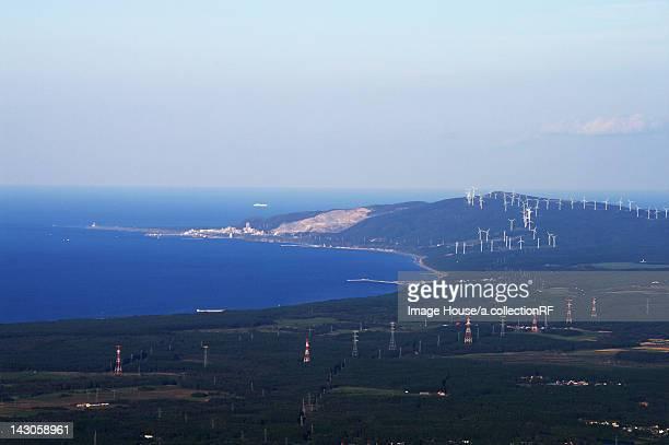 Shiriyazaki cape and wind farm
