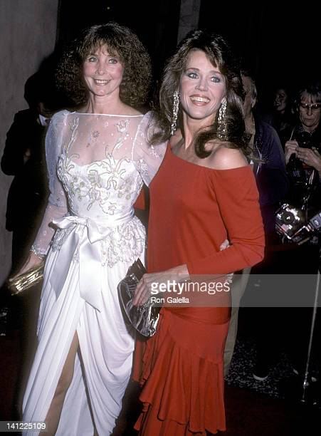 Shirlee Fonda and actress Jane Fonda attend the Los Angeles American Ballet Theatre Opening Night Gala on March 5 1984 at the Beverly Wilshire Hotel...