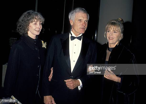 Shirlee Fonda Ted Turner and Jane Fonda during 1995 American Friends Hebrew University Scopus Awards Honoring Ted Turner at Beverly Hilton Hotel in...