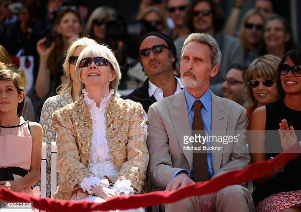 Shirlee Mae Adams and Robert Wolders attend actress Jane Fonda's Handprint/Footprint Ceremony during the 2013 TCM Classic Film Festival at TCL...