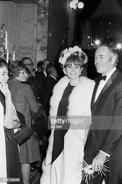 Shirlee Mae with her husband Henry Fondal attending a masked ball circa 1970 New York