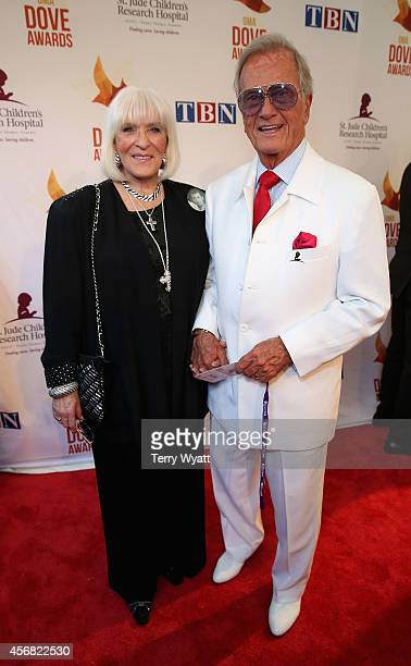 Shirley and Pat Boone arrive at the 45th Annual Dove Awards at Allen Arena, Lipscomb University on October 7, 2014 in Nashville, Tennessee.
