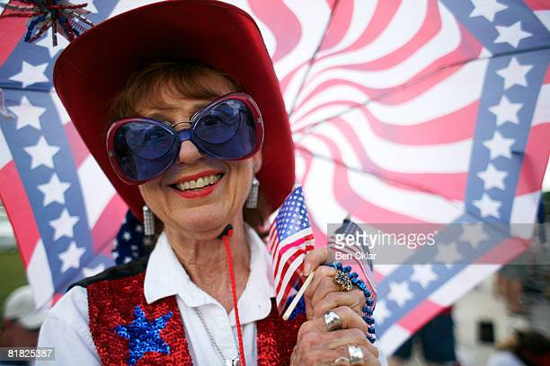 Shirley Anderson watches during the Independence Day parade July 4 2008 in Wimberley Texas The United States declared independence from the Great...