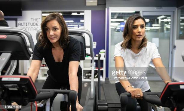 Shirley Ballas and Anita Rani during training for the Comic Relief Kilimanjaro climb on February 07 2019 in London England